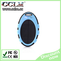 2015 high quality 5000mah mobile solar charger / solar power bank
