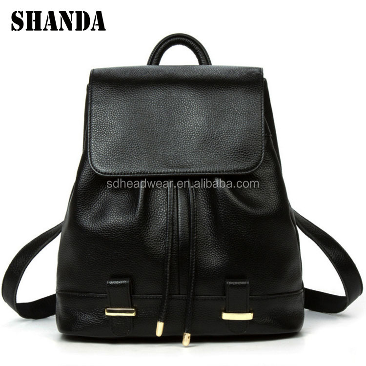 Wholesale leather backpack lady,school backpack bag,backpack women leather