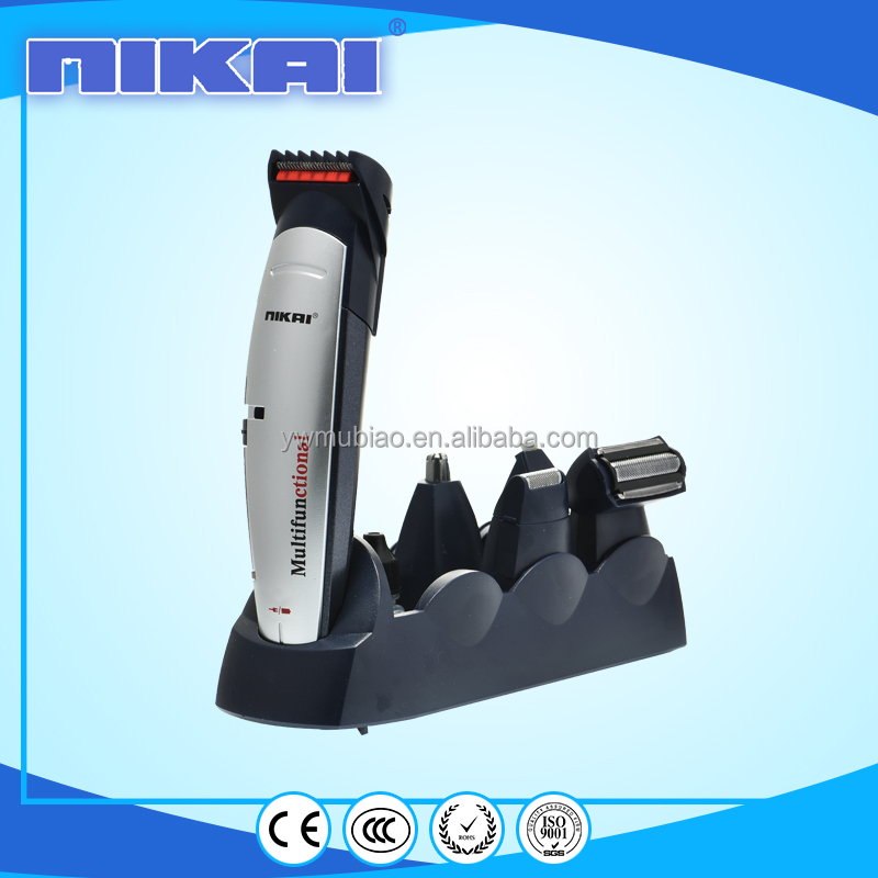 8 in1 NIKAI clipper nose&ear trimmer shaver set barber kit with beautiful case