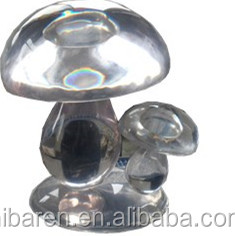 transparent resin mushroom for decoration