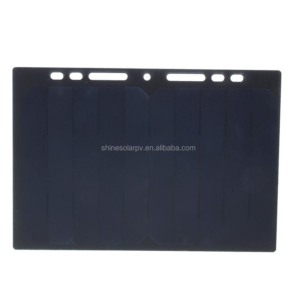 5W 5V small black Flexible Solar Panel with USB Interface