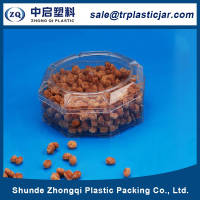 OEM manufacturer 80ml octagon PS plastic box,80ml octagon square small plastic containers