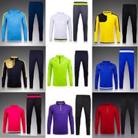 Wholesale 2016 latest design top quality mens soccer tracksuit/soccer jersey
