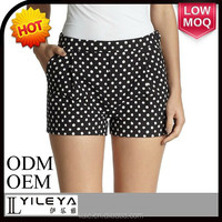dot printed hot pants sexy nude women photos short