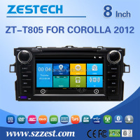 factory price car dvd player with gps For TOYOTA Corolla 2012 support 3G audio DVB-T MP3 MP4 HDMI DVD function
