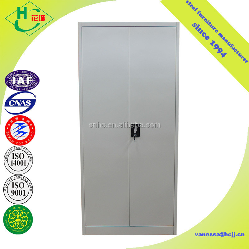 Modern bedroom indian gray double door steel almirah godrej design with price list