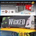 3G/WIFI/GPS/USB Mobile xxx Video Wireless Advertising Taxi Top Full Color Led Display
