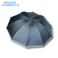 "New Products 2017 Innovative Product 25"" Super Large Foldable Reflective Stripe Summer Umbrella for Two People"