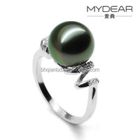 natural pearl jewellery pearl with 925 silver ring jewelry for girls