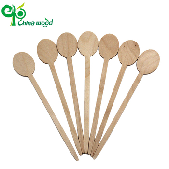 Exquisite workmanship Special-shaped bamboo coffee stir sticks