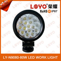 LOYO 2015 tractor offroad light for atv suv, 4*4 accessories flood/spot 80w led working light, 12v 24v spotlight driving light
