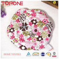 New Arrival 2014 the lowest price flower beautiful round cushion satin
