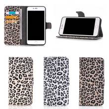 Hot Sale Fashion Leopard Pattern Leather Wallet Cell Phone Case for iPhone 7 Plus