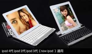 10pcs/lot Aluminum Wireless Bluetooth Keyboard Stand Cover Case For Apple iPad 2 3 4