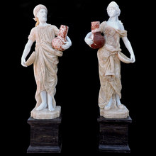 Western modern garden large figure stone marble statue price