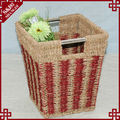 SD straw rope sqaure shaped crochet storage basket