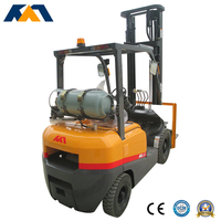 New factory price 3.5ton Japanese lpg engine forklift mini tractor for sale