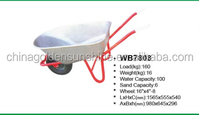 Aluminum alloy wheelbarrow concrete wheel barrow power capacity wheelbarrow