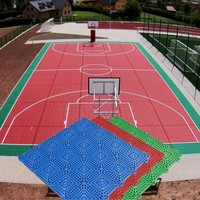 China Factory Price Hot Sell pp outdoor basketball court floor
