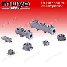 16bar Oil Filter Seat for Air Compressor parts YlT- 12Installation Direction Below Air-oil Separator