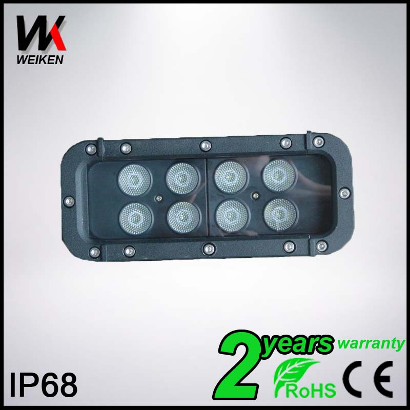 LED Light Bars Cre e 2 Row 12v 40W Waterproof IP68 4x4 Offroad Truck Jeep Cars Flood/Spot Cheap Led Driving Light