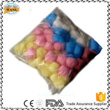 Colorful cotton balls medical assorted cotton balls