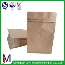 Wholesal food packaging bean pouch paper bag 1 pound coffee bags with valve