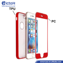 New 360 shockproof front PC and back TPU design phone case for iPhone 6s