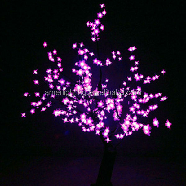 H:1m plastic led cherry blossom tree home decoration