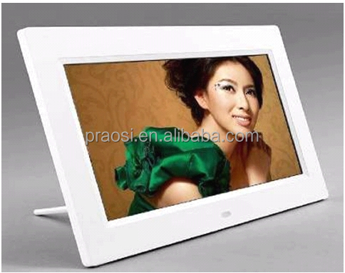 7 inch battery operated hd lcd electronic digital photo/picture frame/album Auto On/Off Timer, MP3 and hd Video Player