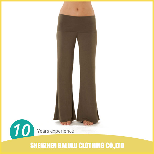 China factory supply cheap multi-color women loose fitness pants yoga wear packed in polybag