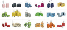 2013 old style hard trolley luggage in 3 pcs a set