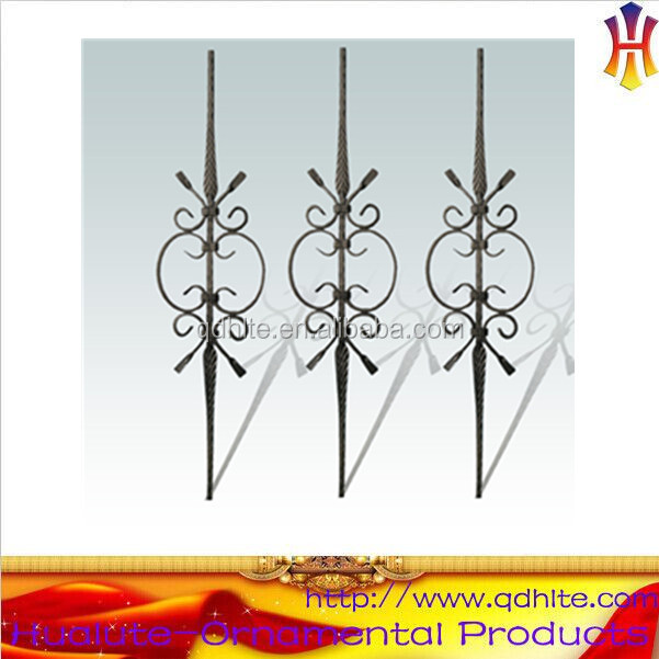 cheap wrought iron stair railings/wrought iron balusters wholesale