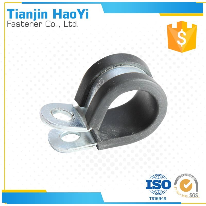 Cable Wire Clamp Rubber Lined Steel fastening clip hose clamp