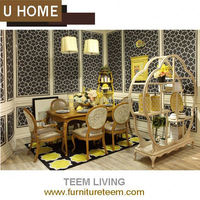 2014 U-Home french style dinging room furniture antique cherry wood dining room sets set 1