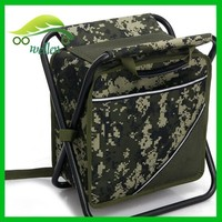 High-quality custom outdoor camping camouflage backpack cooler seat bag,foldable cooler seat bag,cooler chair bag