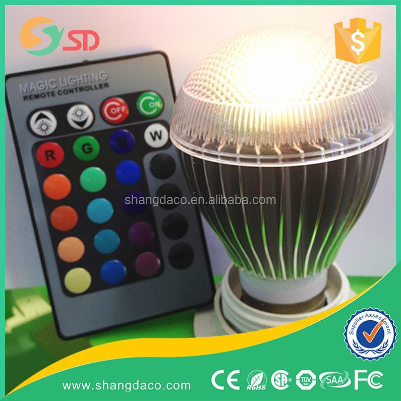 Newest 3w B22 LED RGB bulb AC85~265V 16 COLORS LED Bulb Light Spot Light LED Lamp with IR Memory remote controller