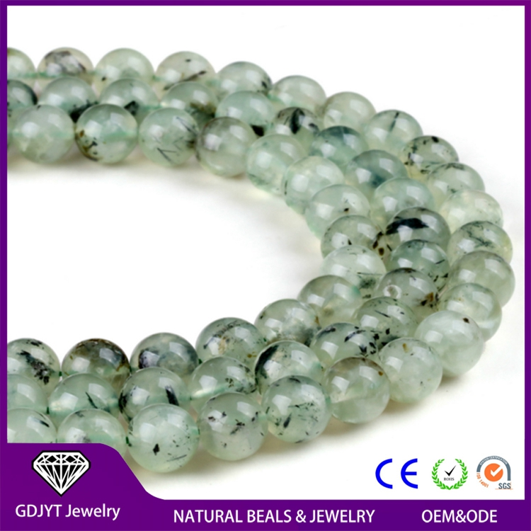 Factory Price Prehnite Natural Round Light Green Loose Beads for Jewelry Beads