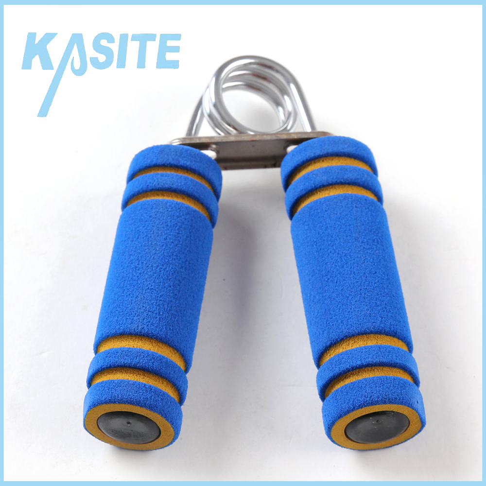 Factory wholesale fitness Iron springs hand grip,Plastic handle with colorful foam