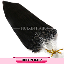 European micro ring loop hair extensions, top Virgin human hair, Micro Loop Ring Extension