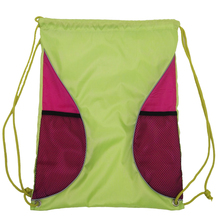 Bulk Dropshipper Blank Sports Drawstring Backpack With Mesh bags