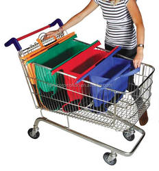 Light weight supermarket grocery trolley bag