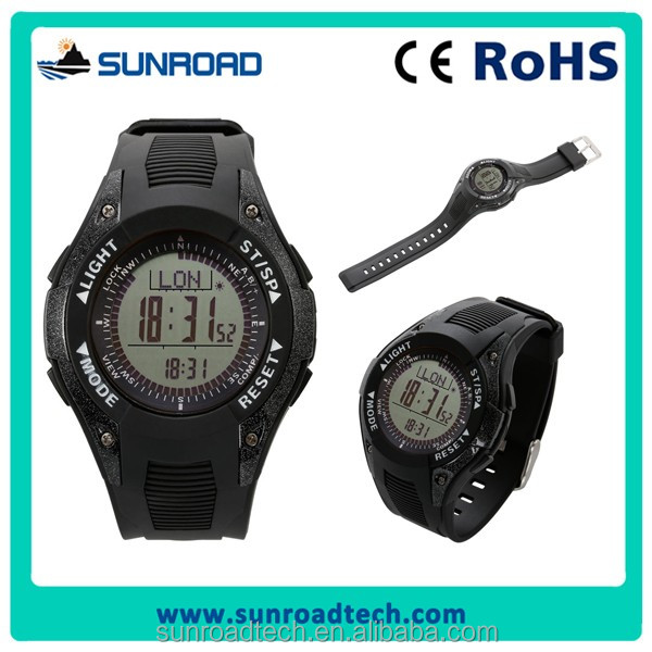 SUNROAD 3ATM waterproof digital sports watch with altimeter barometer pedometer compass
