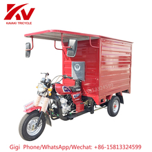 Guangzhou KAVAKI TRICYCLE/MOTOR supply 150cc air-cooled engine 3 wheel closed cabin cargo tricycle