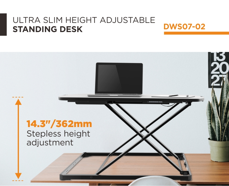 Ultra Slim Compact Standing Desk,Tabletop Workstation Computer Standing Table