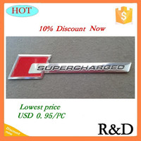 Sell Very Well For Supercharged Car Emblem Badge Sticker Decal Logo Label 10% Discount Now