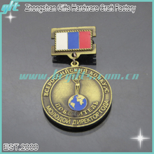 2016 free neck ribbon awards and prizes die struck economy custom metal volleyball medals