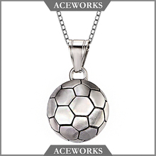 2018 Solid 3d World-Cup Sports Pendants Sterling 925 Silver Football Pendant For Men