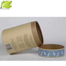 high quality printing new design brownround box paper with lid