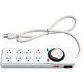 Surge Protector with 8 Outlets & Timer/8-Outlet Power Strip with 24 Hour Timer, 120-volt/Decorative Indoor Power Strip Timer